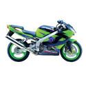 02-03 Kawasaki ZX9R Shogun Motorsports Motorcycle Frame Sliders