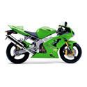 03-04 Kawasaki ZX6R Shogun Motorsports Motorcycle Frame Sliders
